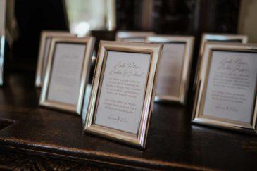 Bilderrahmen als Gastgeschenk für ein Foto mit dem Brautpaar