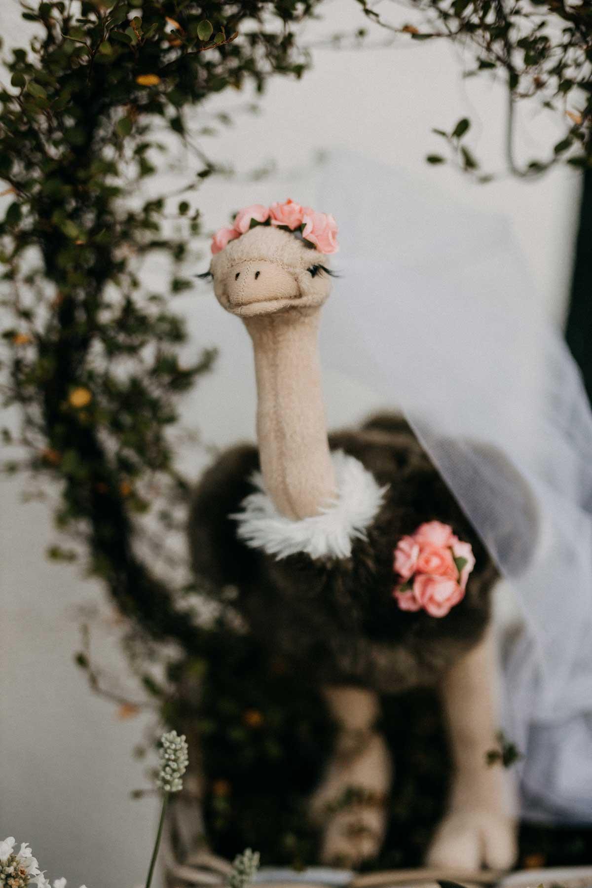 Wurf-Strauß bei der Hochzeit
