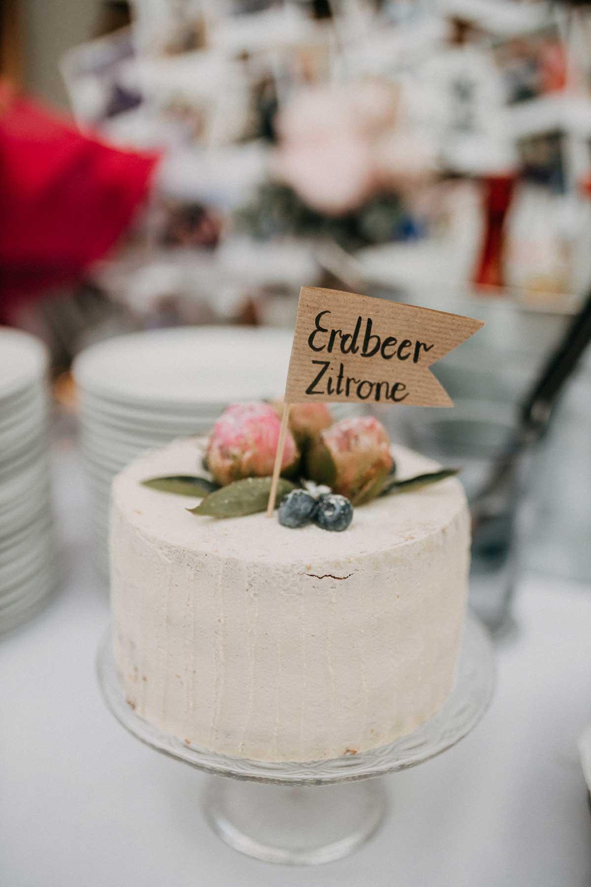 Erdbeer Zitronen Torte für die Hochzeit