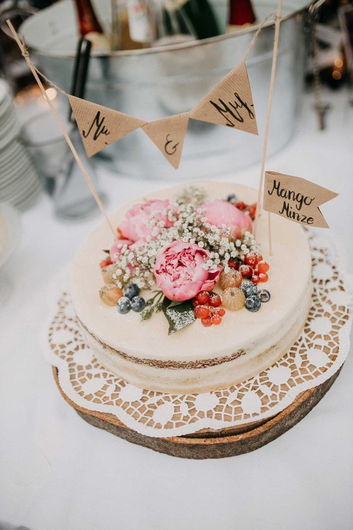 Mango Minze Torte bei der Hochzeit