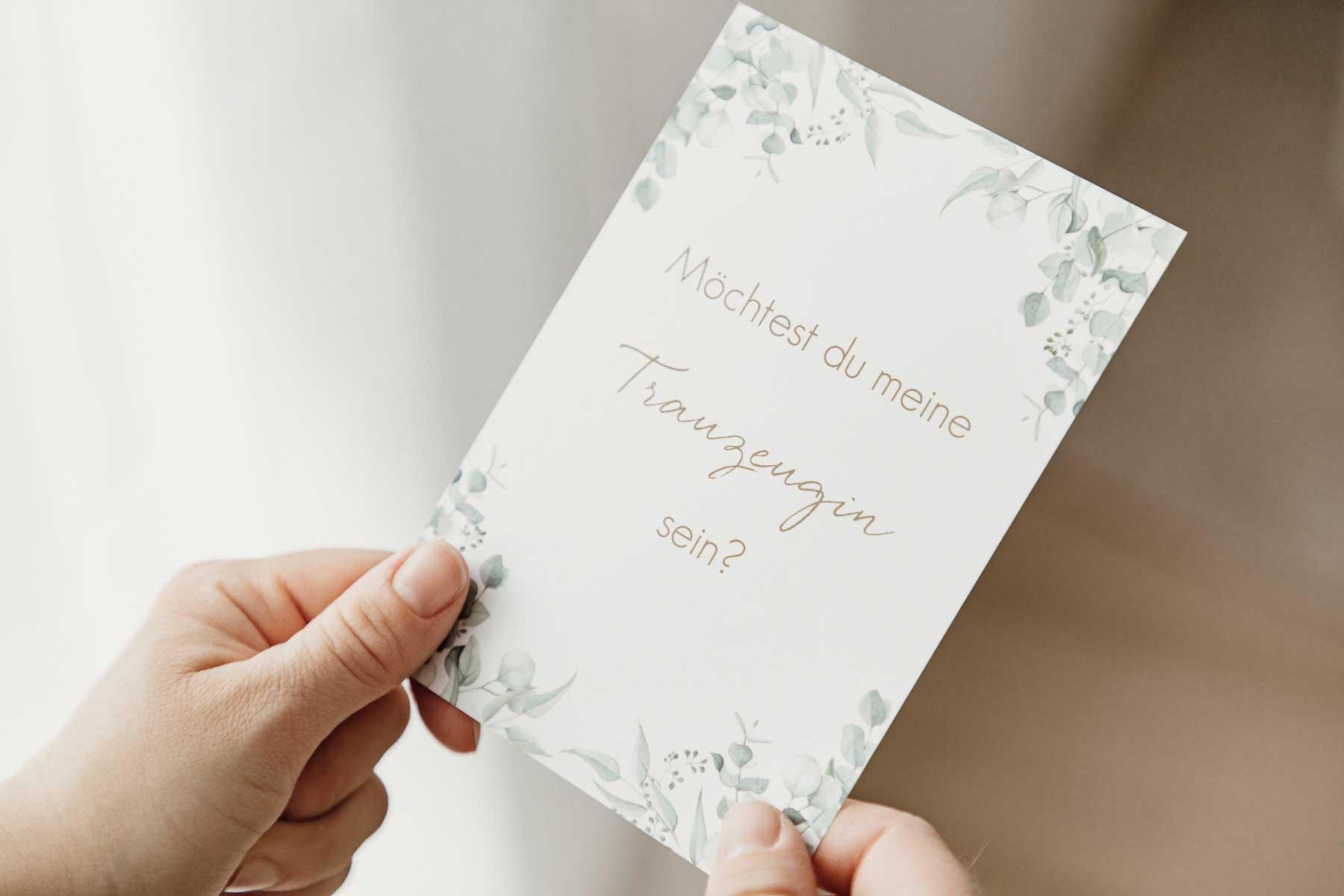 Gratis willst du meine Trauzeugin sein Karte für die Hochzeit zum Verschenken