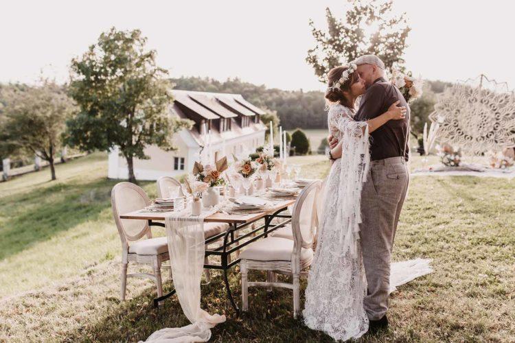 Elegante Boho-Lux Hochzeit auf Schloss Freudental