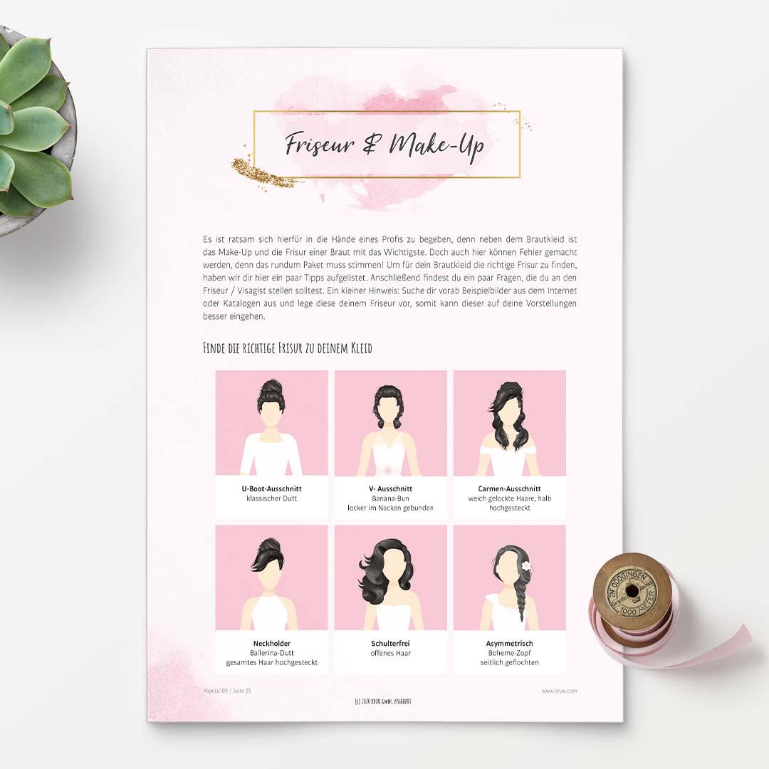 Gratis Hochzeitsplaner: Frisur und Make-up