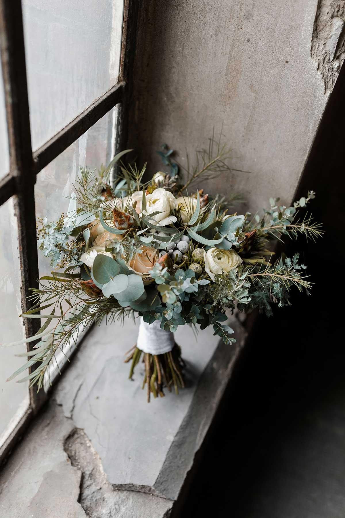 Brautstrauß passend für eine Winter-Hochzeit