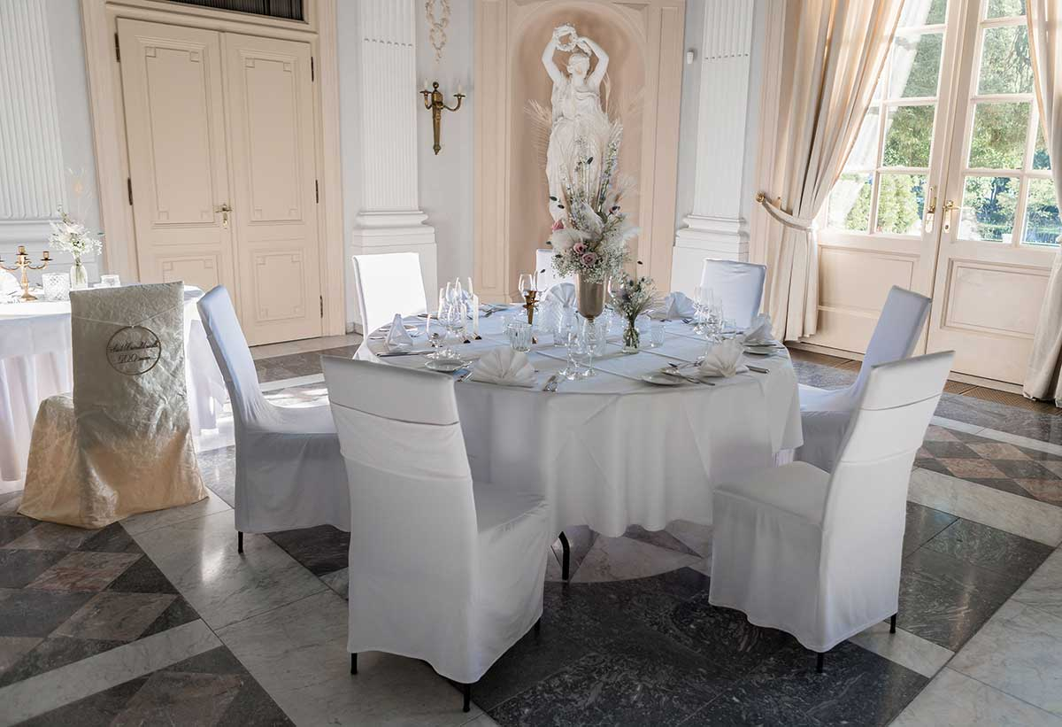 Tischdeko für die Prinzessinnen Hochzeit