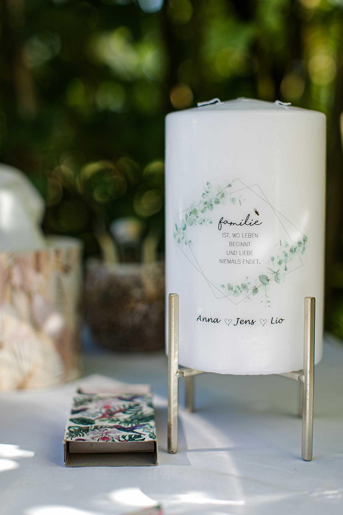 Hochzeitskerze für die Trauung