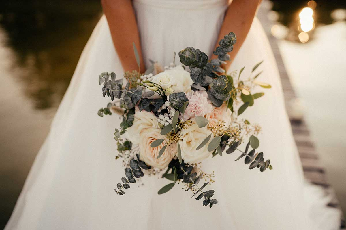 Brautstrauß im Greenery Stil