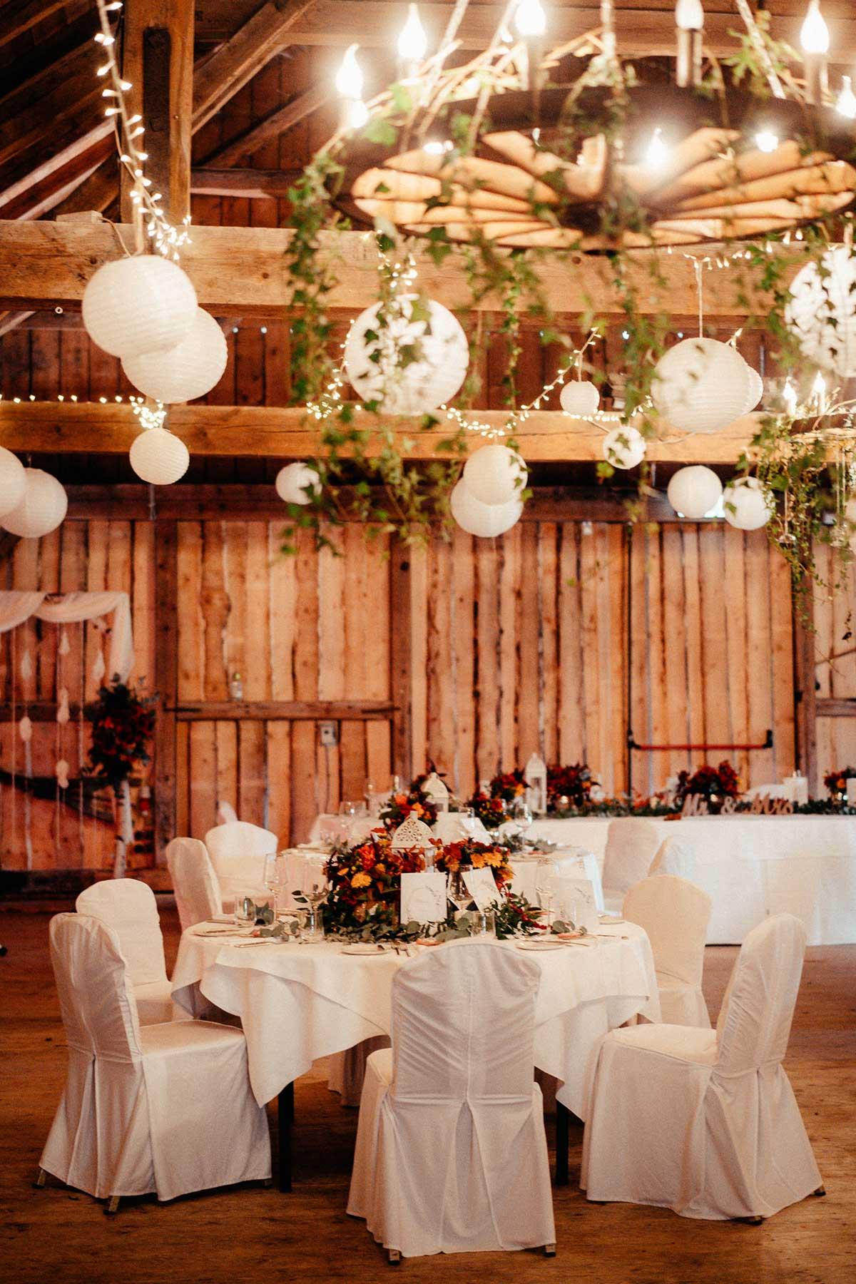 Hochzeit in der Eventscheune Wallenburg