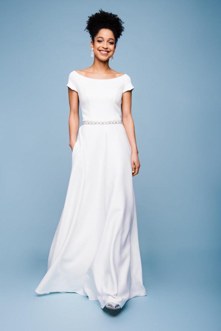 küssdiebraut schlichtes Brautkleid Shine