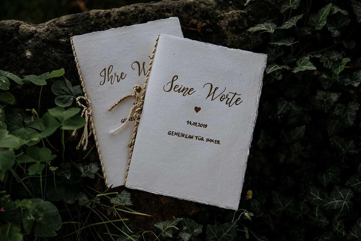 Hefte für das Eheversprechen