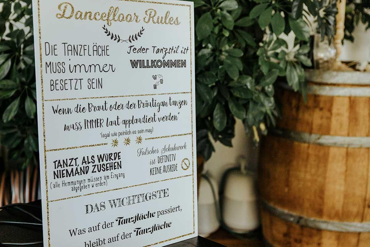 Regeln für die Tanzfläche bei der Hochzeit