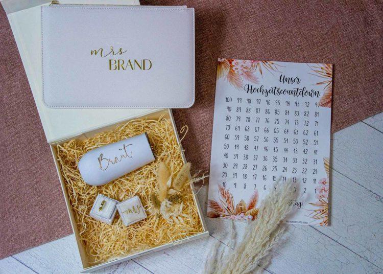 Individuelle Geschenkbox für Braut, Trauzeugin und Co. zusammenstellen
