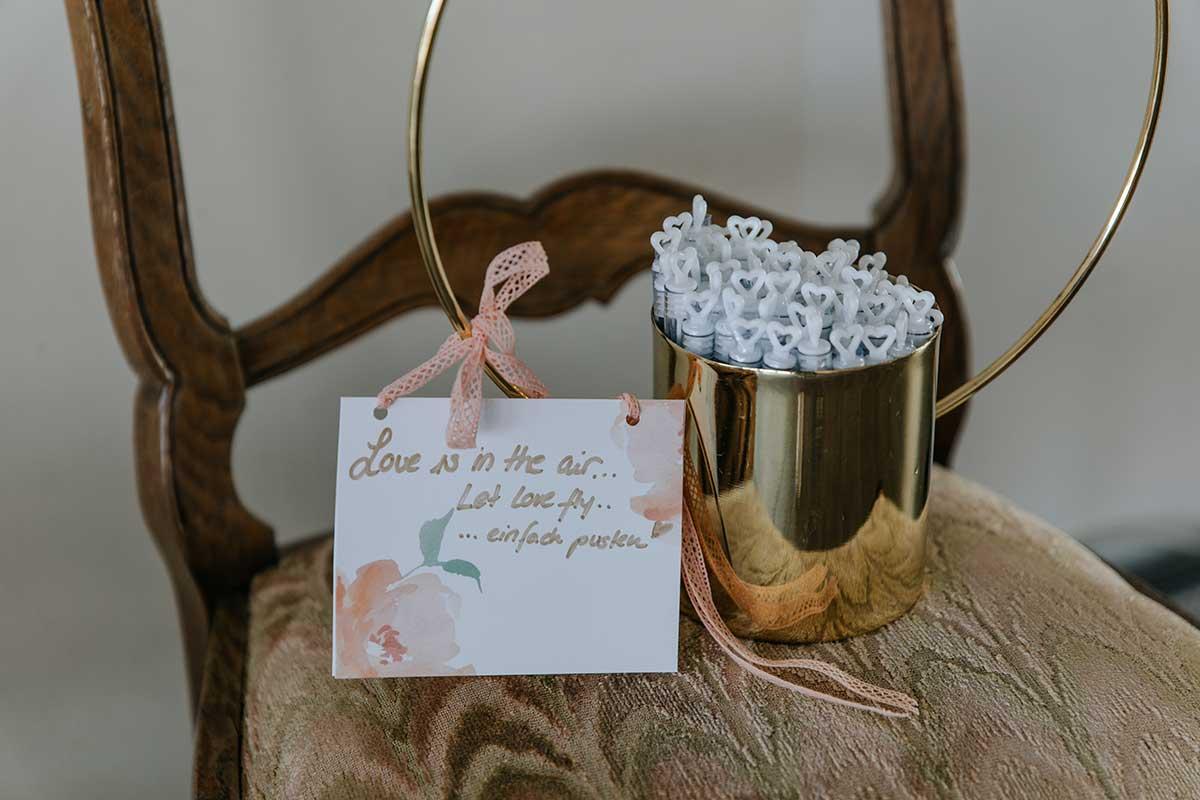 Für Seifenblasen bei der Hochzeit