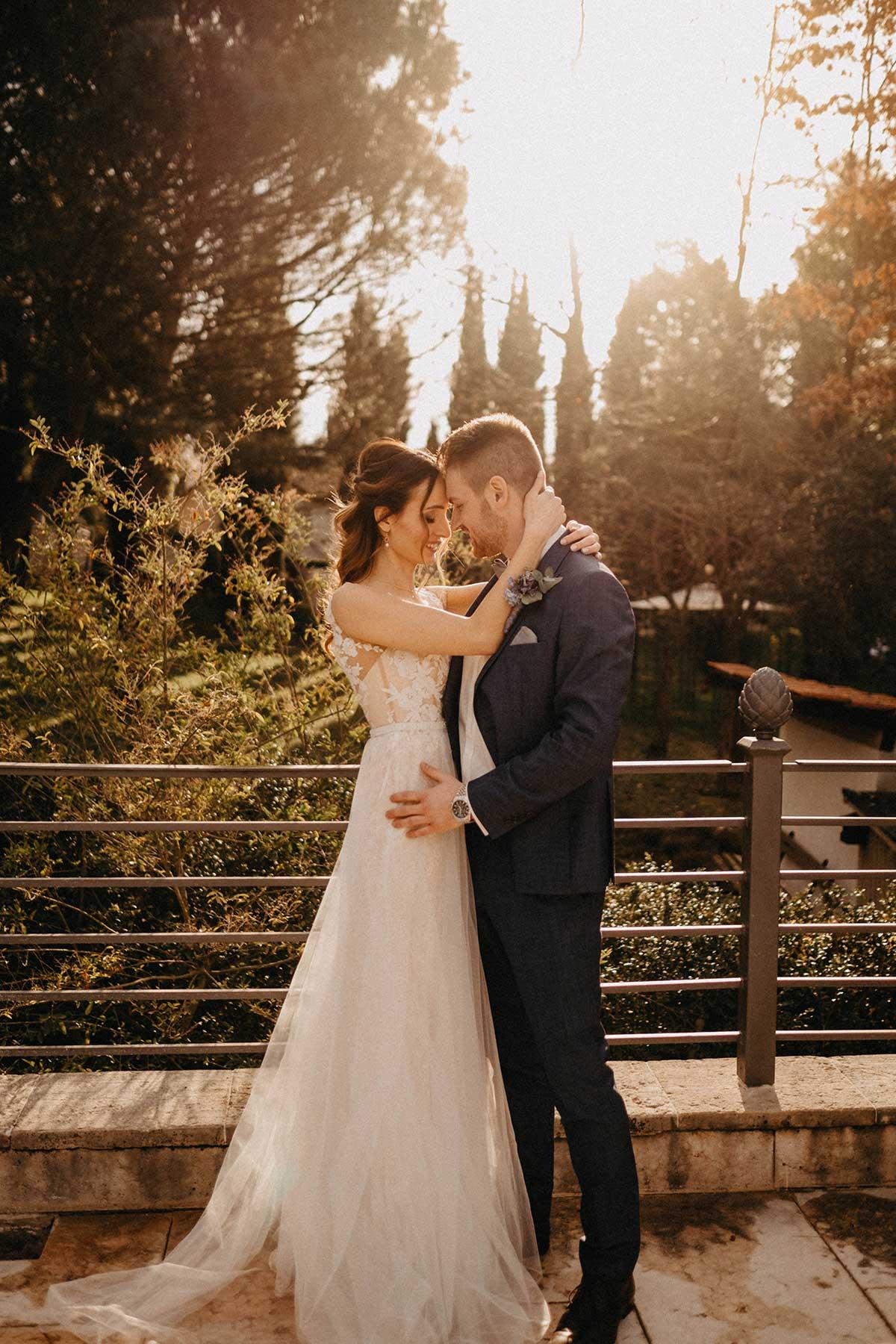Brautpaar beim Paar Fotoshooting