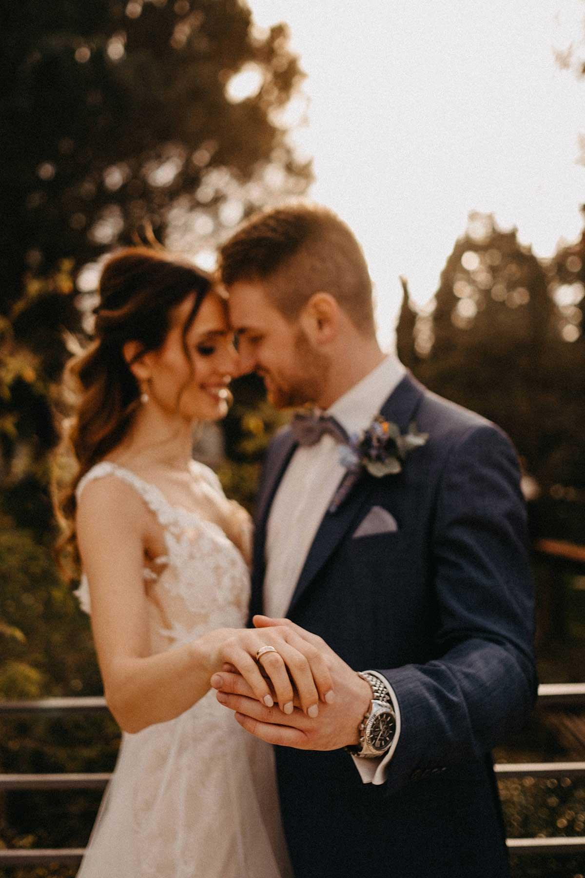 Paarshooting mit Braut und Bräutigam