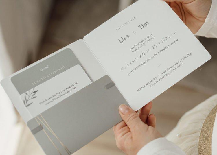 Pocketfold Einladungskarte zur Hochzeit