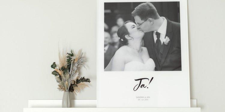 Eure schönsten Hochzeitsmomente als Wandbild
