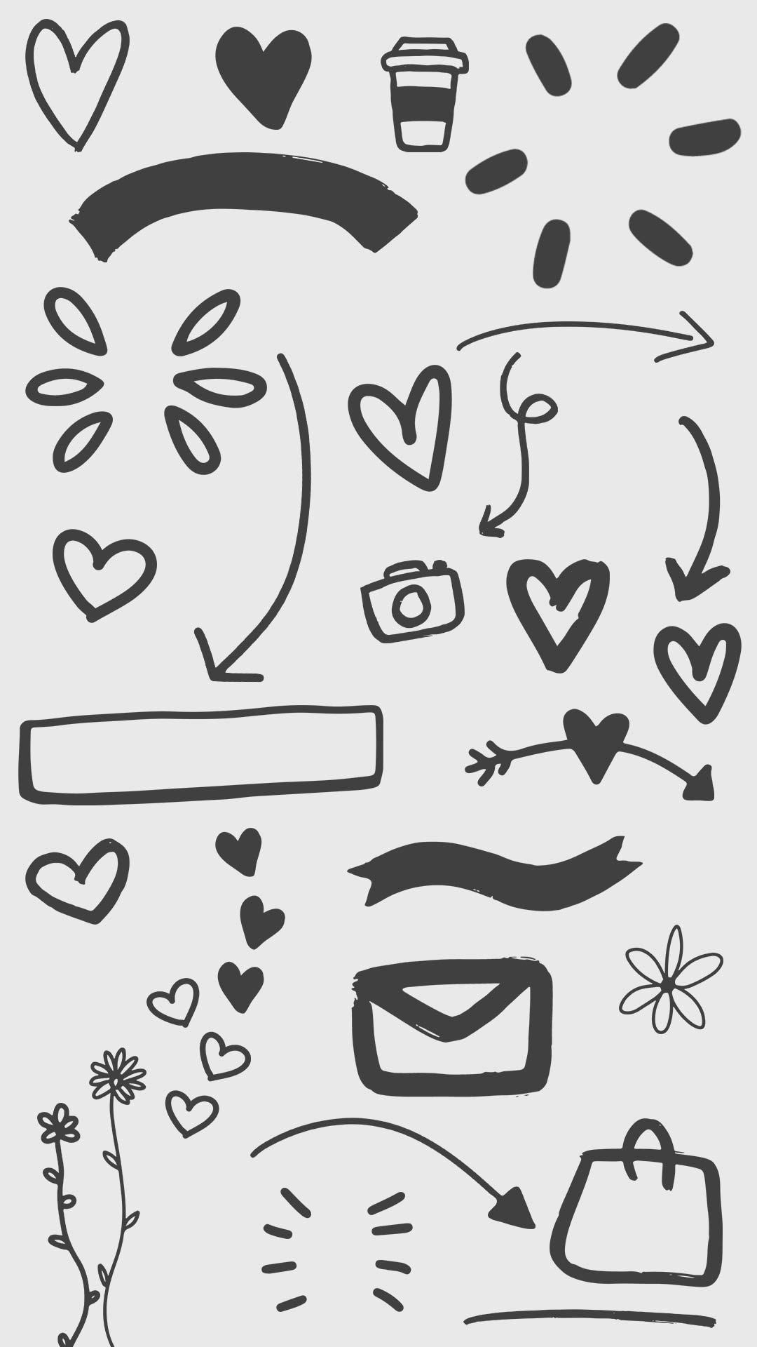 Icon Übersicht der kostenlosen Story Sticker zum Thema Hochzeit