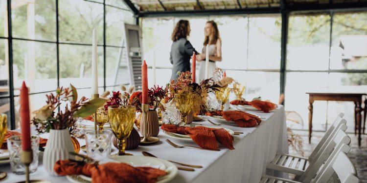 Spätsommer Hochzeit in warmen Herbsttönen